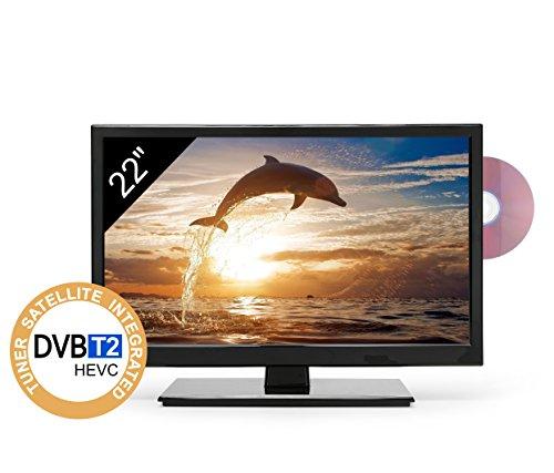 TV Full HD 22' para Autocaravana - DVD/USB/Ci+/Hdmi - 12/24/220V - Vesa - Slim Design