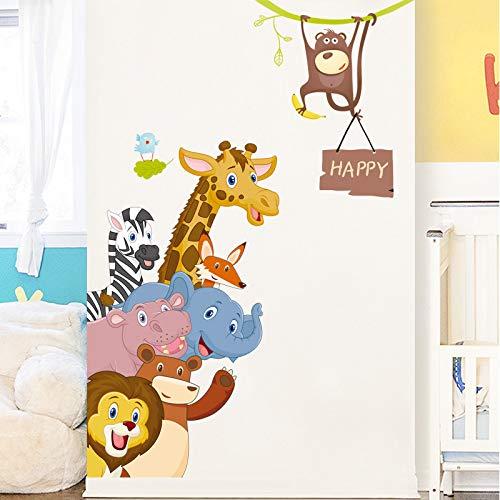 De wand brengt kinderkamer stickers decoratief behang,71 * 123cm gelukkige dieren