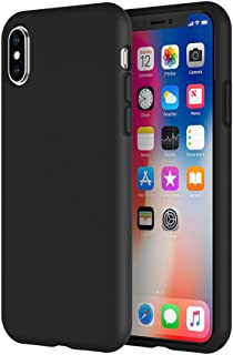 LAUDTEC iPhone X/XS Silicone Rubber Case Heat Dissipation Honey-Comb Grid Ultra-Slim Anti-slip Shock-Resistant Silky Touch Triple-layer Full Body Camera Protection Wireless Charging Life-time Warranty