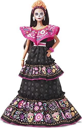 Barbie Bambola Dia de Muertos con Vestiti e Dettagli Realistici, da Collezione, Giocattolo per Bambini 6+ Anni, GXL27