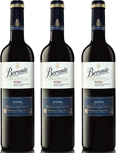 Beronia Reserva - Vino D.O.Ca. Rioja - 3 botellas x 750 ml - Total: 2250 ml
