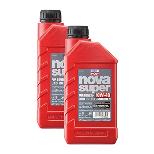 2x LIQUI MOLY 7350 Nova Super Motoröl 10W-40 1L