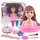Kinderkosmetik-Kit Schminkset mit Puppe Kinder Schminkkoffer Mädchen Schönheit Spielzeug Geschenk für Kinder