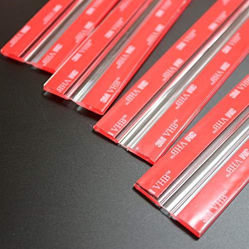 4x 300mm Bisagras Flexibles : no se requiere pegamento. Autoadhesivas. Plástico bisagras activas y flexibles, plexiglás. Bisagras acrílicas, continuas y transparentes de piano.