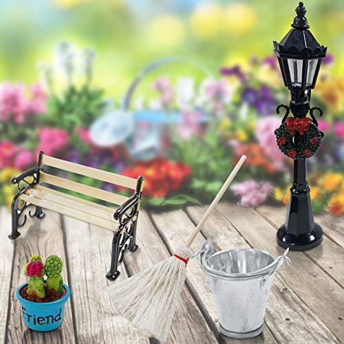 5er Set Miniatur Puppenhaus Gart...