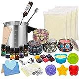 Popolic Kerzenherstellung Kit, DIY Kerzenherstellung Zubehör, Duftkerze Geschenke Set Inklusive Sojawachs, Dose, Dochte, Dochthalter, Farbstoffe, Fassungsvermögen Kanne, Rührlöffel
