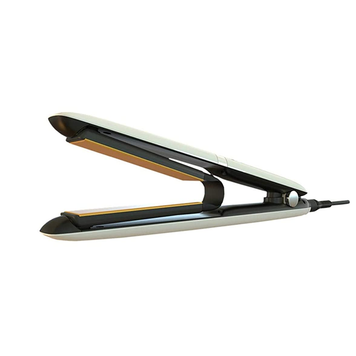 器具エンターテインメントスキー2 IN 1セラミックストレートヘアアイロン、可変温度設定、30秒加熱時間 モデリングツール (色 : ホワイト)