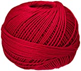 Handy Hands Lizbeth Egyptian Cotton Crochet, Tatting, Knitting Thread Size 3 (50 Grams 120 Yards) – HH03671, Christmas Red