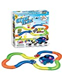 LED Glow Track EN The Dark Bend, Flex Car Race Fun Gift Set con Multi Track