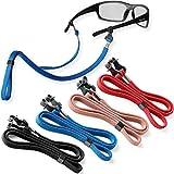 Eyeglasses String Holder Straps Cord - 4 Premium Eyeglass Chains for Men Women - Eye Glasses Strap Chain - Sunglass Lanyard Neck Retainer 4 Pcs