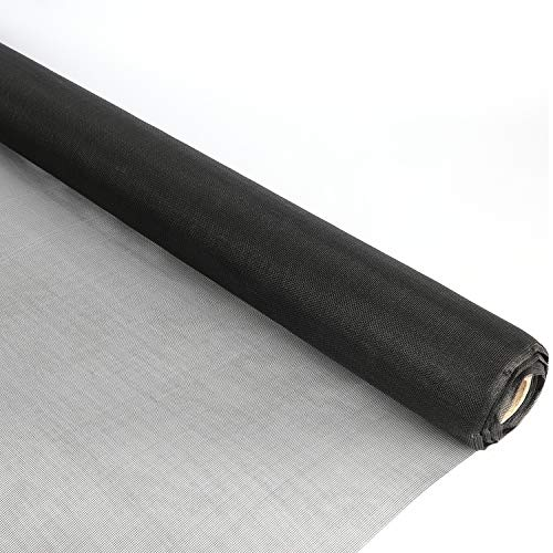 "Houseables Window Screen Mesh, Screens Porch Repair, 36"" x 100', Black, Fiberglass, Screening Material, Anti Bug, Bulk Roll, Netting Kit, Hardware, Replacement, for Insect, Door, Mosquito, Pet"
