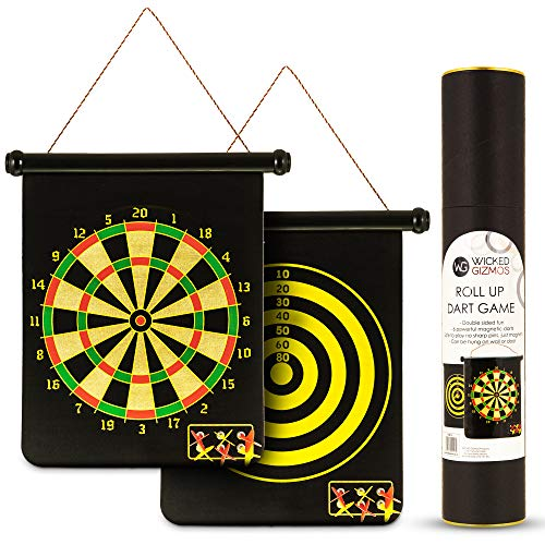 WICKED GIZMOS ® Roll Up Dart Game – Extra Large Double...
