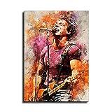 Bruce Springsteen - Póster decorativo de 8 acuarelas para decoración del hogar