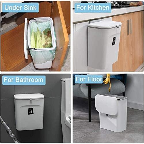 C SODIAL Bac /à Compost de Cuisine pour Comptoir ou sous /éVier Seau /à Compost Int/éRieur Montable Petite Poubelle Suspendue avec Couvercle