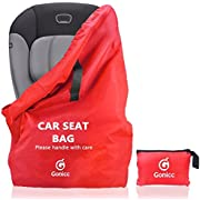 Gonicc Professional Baby Car Seat Travel Bag Cover, Two Shoulder Strap, Ideal For Airport Gate Check, Made of Waterproof Material, Lifetime Satisfaction Guarantee.