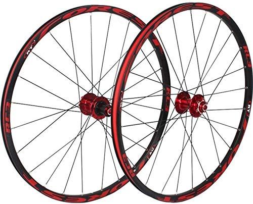 Juego de ruedas de bicicleta de montaña de 26/27,5 pulgadas, ruedas de ciclismo MTB, llanta de aleación de doble pared, freno de disco, rodamientos sellados de liberación rápida, 8 9 10 11 velocidade