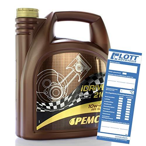 5 (1x5) Liter PEMCO SAE 10W-40 iDrive 210 Motoröl - powered by MANNOL Defender - API SL/ CF, ACEA A3/ B3, MB 229.1