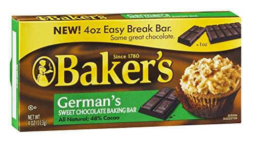Kraft Bakers German Chocolate Bar, 4 OZ