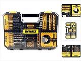 DEWALT DT71569-QZ - Juego TSTAK de 100 piezas para taladrar y atornillar con 8 Brocas para Piedra, 12 Brocas Metal, 5 Llaves de Vaso, 4 Coronas,Mandril, 69 Puntas para atornillar de 25mm y portapuntas
