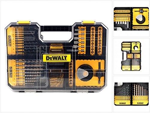 DeWalt TSTAK Universalset/ MaxiSet (100-tlg., mit HSS-Metallbohrern, Betonbohrern, Lochsägen, Bits 25 mm, Torx, Phillips, Schlitz, Steckschlüssel und Bithalter, TSTAK kompatibel) DT71569