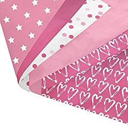Great pink patterned bundle to follow tissue paper pom poms tutorial