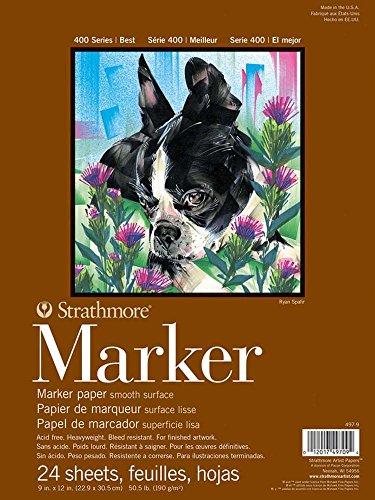 Strathmore Marker Papier Pad 22,9 x 30,5 cm 50# glatt, acryl, Mehrfarbig, 0.15 x 8.9 x 11.9 cm