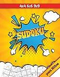 Sudoku para Niños: 4x4 6x6 9x9 Soduku Infantil Fácil y Divertido para Desarrollar Habilidades Lógicas, Libros de Sudokus para Niños, Rompecabezas de Lógica para Niños