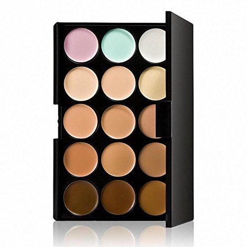 Injoyo Palette Anti-cernes Contour Du Visage 15 Couleurs +1 Brosse De Maquillage En Poudre Crème +1 Puff - # 4