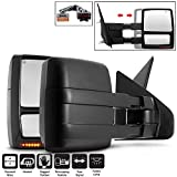 Acanii - Telescoping Power+Heat+LED Signal+Puddle Towing Side Mirror For Driver + Passenger 2004-2014 Ford F150 04-14