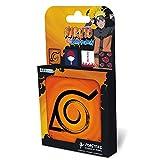 ABYstyle Abysse Corp_ABYCOS007 Naruto Shippuden - Juego de 4 Posavasos con Emblema, Multicolor
