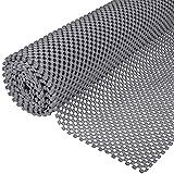 Ruisita Non-Slip Mat Area Rug Pad Anti Slip Gripper Roll Rubber Matting Waterproof Floor Mat PVC Shelf Drawer Liner for Home, Office, Cars, Caravans (Gray, 30 x 200 cm)
