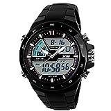 (AxiEr)男女兼用腕時計 デジタルウォッチ 日常生活防水 LEDライトつき ファッション腕時計 スポーツウォッチ スポーツ用腕時計 ハンド時計メンズ学生 アナデジ表示1016