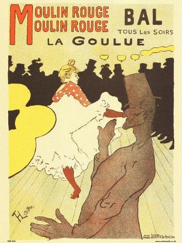 onthewall Art Nouveau Póster por Henri de Toulouse–Lautrec Moulin Rouge PDP 030