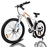ECOTRIC Mountain EBike Electric Bicycle Bike 26' Alloy Frame with 500W Powerful Motor 36V/13Ah Lithium Suspension Fork (White)