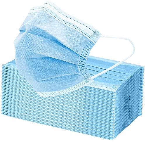 Moon-Valley Weich Atmungsaktive Mundschutzmasken 30 Stück 3-lagig Mundschutz Staubschutz Gesichtsmaske Mund-Nasen-Schutz, Einwegmaske zur Allgemeinen Verwendung,Einwegesschutzmasken