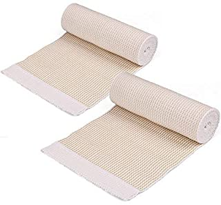 Elastic Bandage - LotFancy Cotton Compression Bandage Wrap with Hook-and-Loop Closure on Both Ends, 6 Inch by 5 Yards, Pack of 2