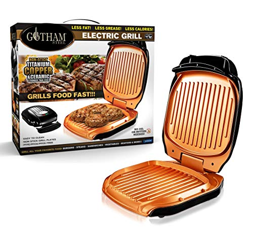 Amazing Deal Gotham Steel 2053 Low Fat Multipurpose Sandwich Grill Nonstick Copper Coating – As Se...