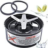 Blender Replacement Parts Cross Blade Fits Original NutriBullet 600w / 900w Pro Extractor Blade Series Nutribullet Accessories Blade with 2 Silicone Rubber Gaskets Seal Ring