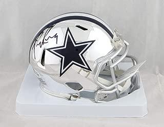 Tony Romo Autographed Dallas Cowboys Chrome Mini Helmet - Beckett Auth Black