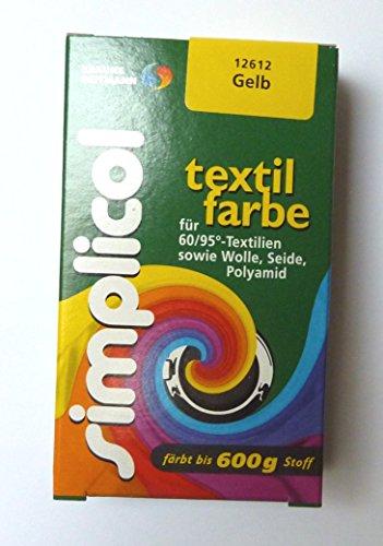 Simplicol  Restposten Textilfarbe 25g GELB von Brauns-Heitmann 23,96€/100g