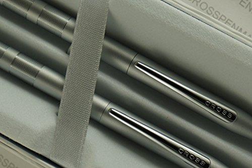 Cross Century Classic Diamond Cut Lamina Matte Satin Pen and Pencil Set