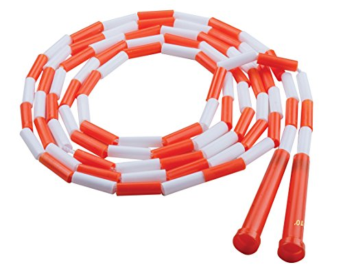 Champion Sports PR10 Plastic Segmented Jump Rope, 10'