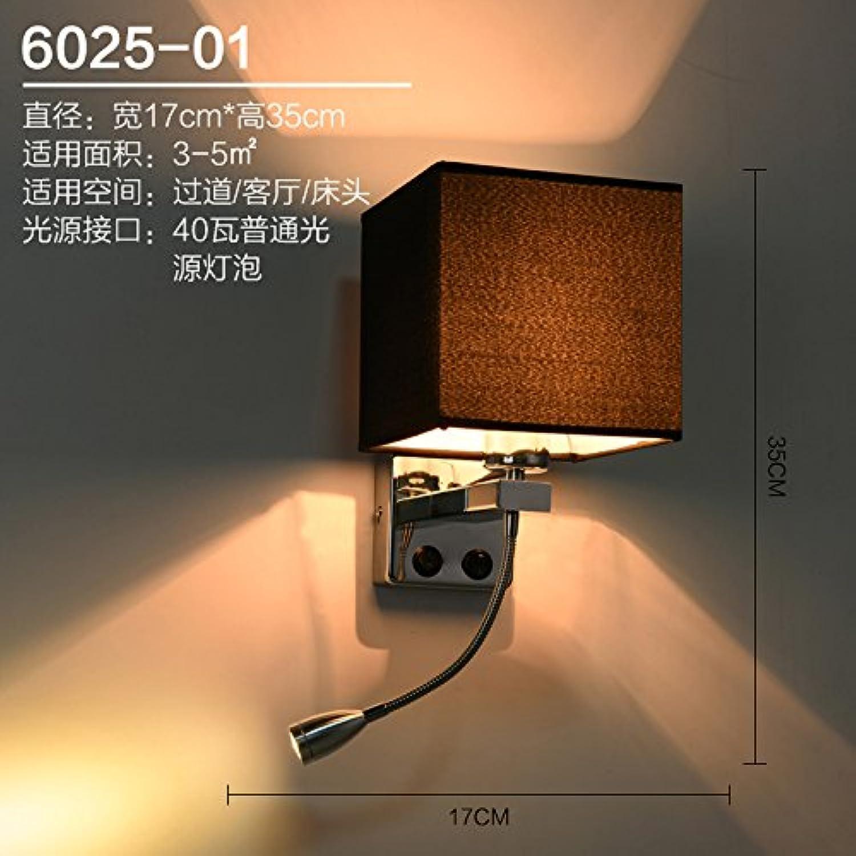 StiefelU LED Ausziehbare hotel Schlafzimmer Strae Studie führte Nachttischlampe Wandleuchte mit Schalter, einzelne schwarze Lampe - LED-Lichtquelle