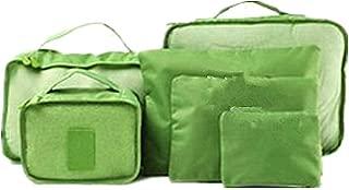 YASSUN Travel Waterproof Storage Bag sixPiece Luggage Storage Bag, Green