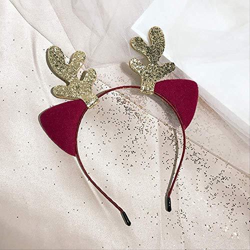 Weihnachten Adult Little Deer Horn Elch Haarband Verkauf Von Haarbändern, Um Bilder Von Kopfbedeckung HaarschmuckSchnaps Rot