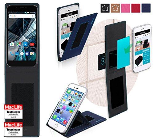 reboon Hülle für Archos 50 Graphite Tasche Cover Case Bumper   Blau   Testsieger