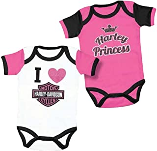Baby Girls' Princess Creeper Set, 2 Pack Pink/White 3000557