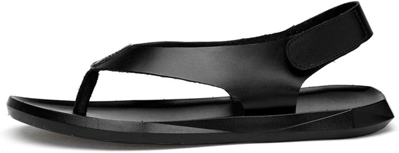 WHL.LL Herren PU Dünner Gürtel Sandalen Rutschfest Verschleißfest Klettverschluss Sandalen Alltagskleidung Sandalen  | Am wirtschaftlichsten