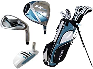 Precise Deluxe Women's Petite Complete Set (Blue), Graphite Hybrids with Steel Irons, Right Hand, Regular