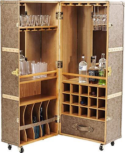 Kare Design Schrankkoffer Bar West Coast, Hausbar, Kofferbar rollbar, (H/B/T) 154x60x60cm